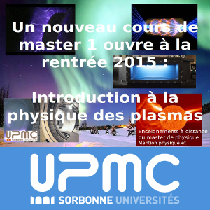 Master de physique à distance : Introduction à la physique des plasmas